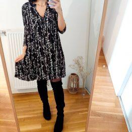 Ba&Sh - Robe Frezza Noire fleurie