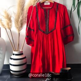 Ba&Sh - Robe Cale Rouge