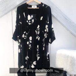 Ba&Sh - Robe Pansy Noire fleurie