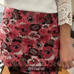 Sézane - Jupe Mason Rose fleurie