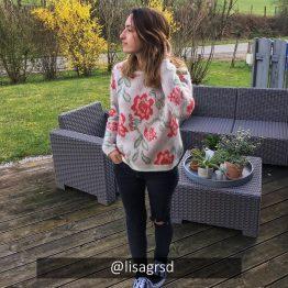 Sézane - Pull Romane Rose fleuri
