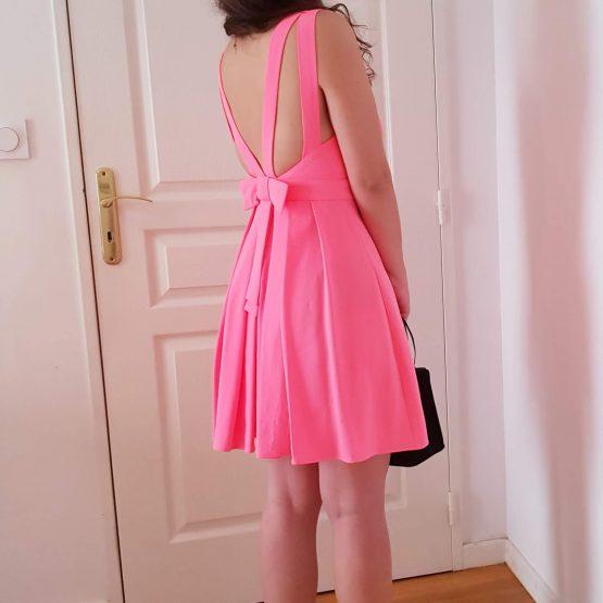 Claudie Pierlot - Robe Rencontre Rose fluo