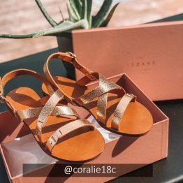 Sézane - Sandales low Ella Dorées