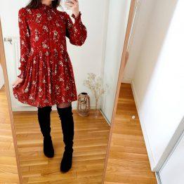 Robe Olivia Rouge fleurie Sézane